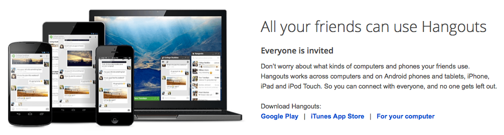 Google Hangouts, Maybe now it will work?
